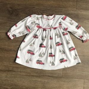 Vintage Station Wagon Christmas Tree Pajama Gown